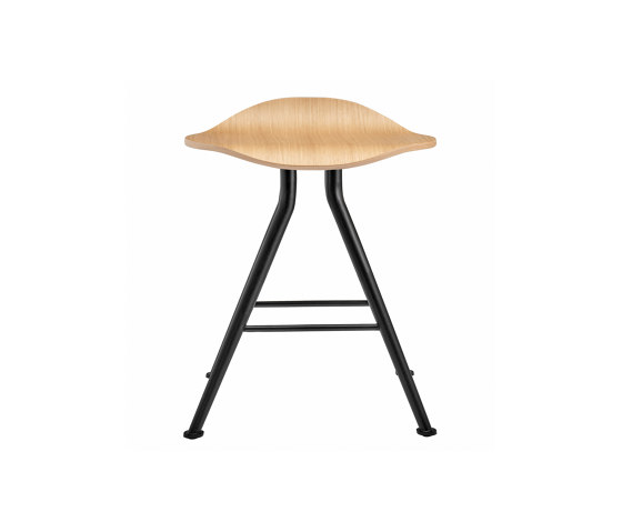 Barfly Bar Stool, Black Frame - Natural Seat by NORR11 | Stools