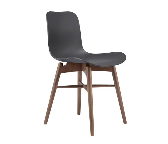 Langue Original Dining Chair, Smoked /  Anthracite Black de NORR11   Sillas