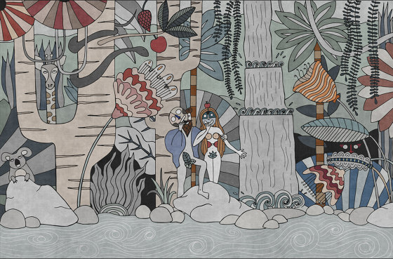 Le Jardin De Délices by LONDONART | Wall coverings / wallpapers