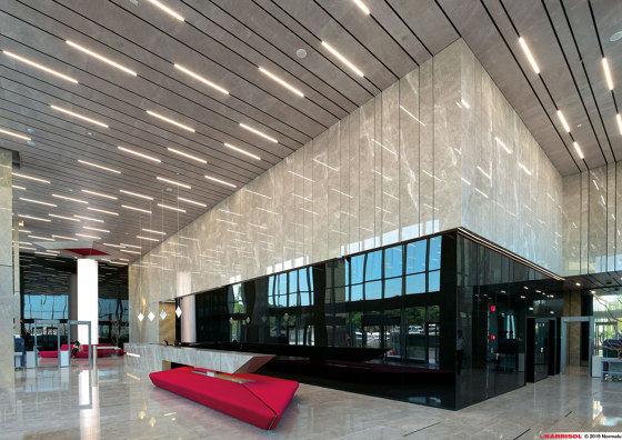 Our solutions for interiors | Barrisol Marble effect by BARRISOL | Suspended ceilings