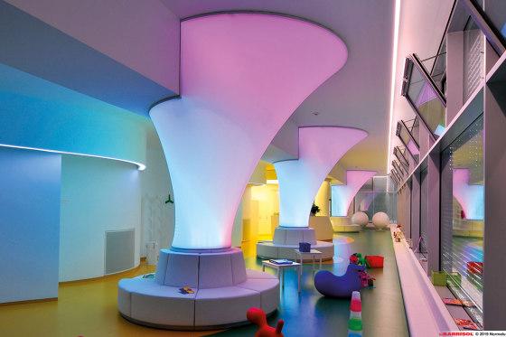 Our solutions for interiors | Barrisol® Column 3D de BARRISOL | Paredes luminosas