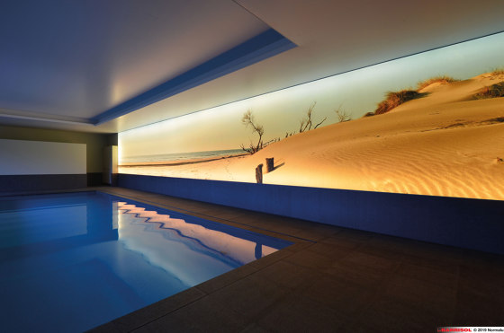 Our solutions for interiors | Barrisol® Mural de BARRISOL | Paredes luminosas