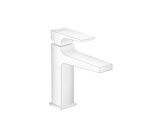 hansgrohe Metropol Single lever basin mixer 110 with lever handle and push-open waste set by Hansgrohe | Wash basin taps