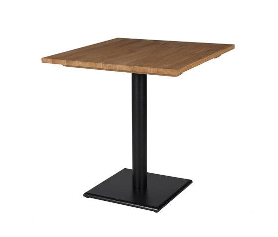 Bistro dining table square flat base oak top de Vincent Sheppard   Tables de bistrot