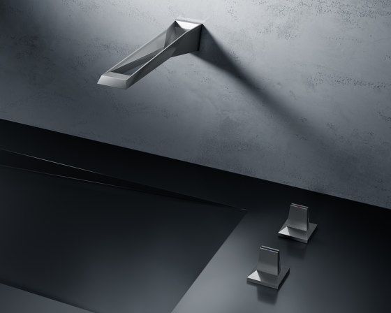 Allure Brilliant Icon 3D 3-hole wall-mount basin mixer by GROHE | Wash basin taps