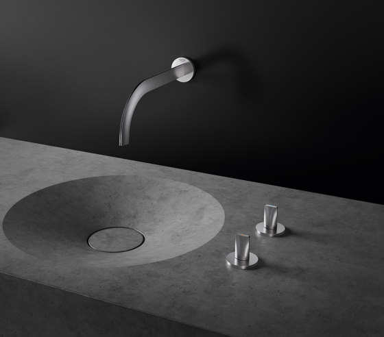 Atrio Icon 3D 3-hole wall-mount basin mixer by GROHE | Wash basin taps