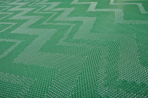 Missoni ZigZag Green by Bolon | Wall-to-wall carpets