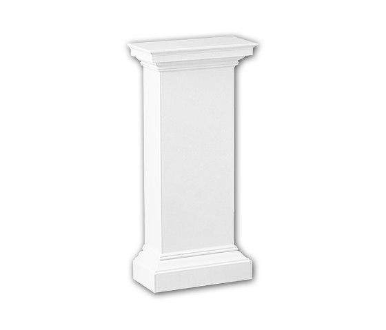 Interior mouldings - Pedestal de media columna Profhome Decor 118002 de e-Delux | Losetas táctiles