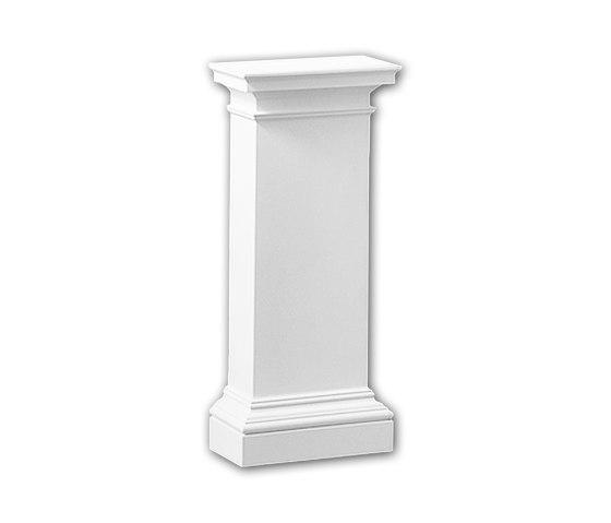 Interior mouldings - Pedestal de media columna Profhome Decor 118003 de e-Delux | Losetas táctiles