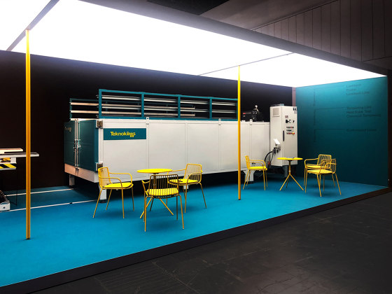 Exhibition | Space design by Dresswall | Illuminated ceiling systems