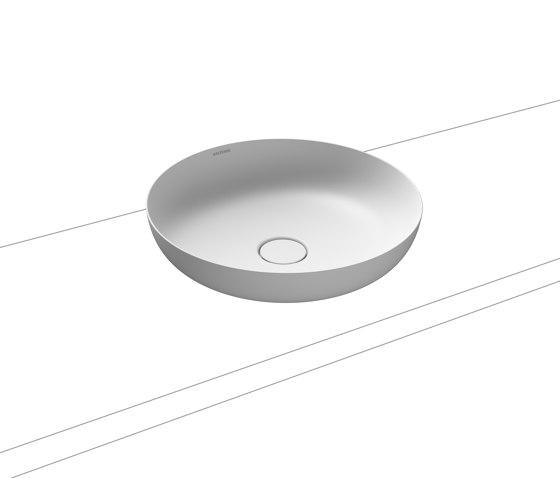 Miena washbowl alpine white matt (round) by Kaldewei | Wash basins
