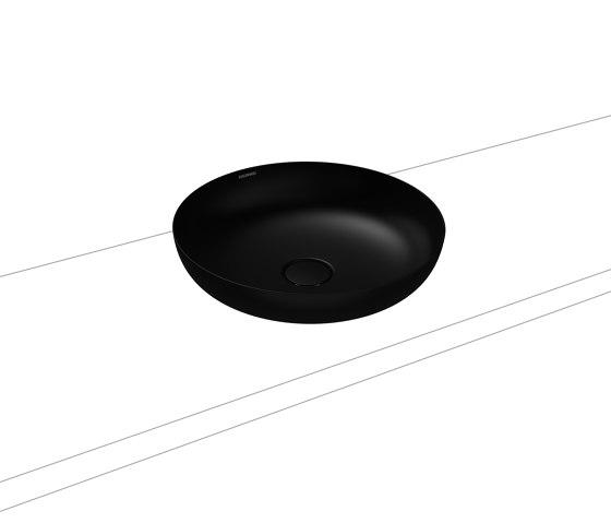 Miena washbowl lava black matt (round) by Kaldewei | Wash basins