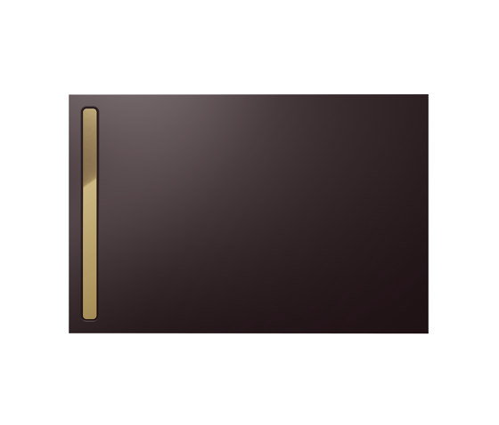 Nexsys ancona brown matt I Cover polished gold by Kaldewei | Shower trays