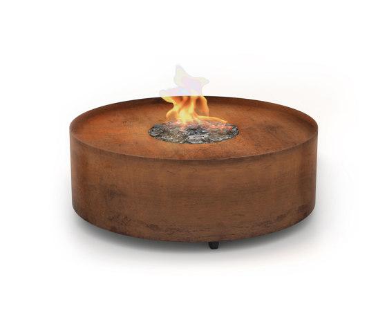 Galio Fire Pit Corten by Planika | Ventless fires