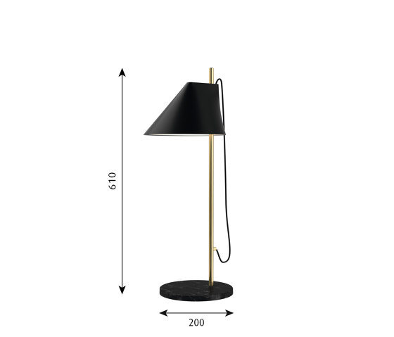 Yuh Brass Table de Louis Poulsen | Luminaires de table
