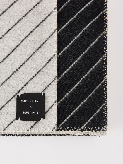 Pinstripe Throw Black by Made By Hand   Plaids