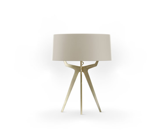 No. 35 Table Lamp Matt Collection - Light taupe - Brass by BALADA & CO.   Table lights
