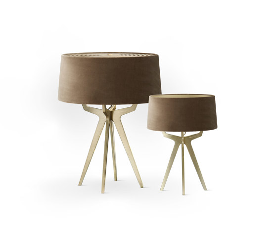 No. 35 Table Lamp Velvet Collection - Dune - Brass by BALADA & CO. | Table lights