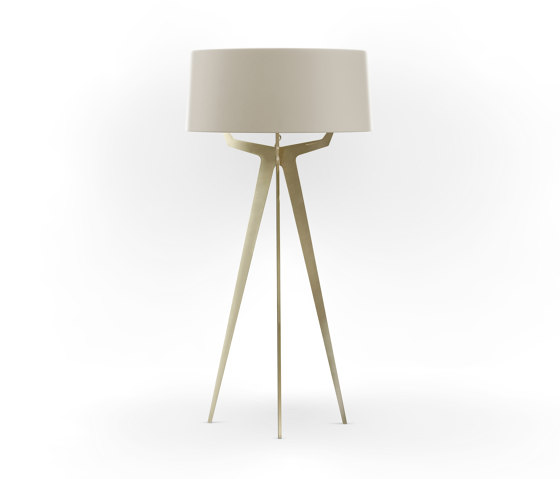 No. 35 Floor Lamp Matt Collection - Light Taupe - Brass by BALADA & CO. | Free-standing lights