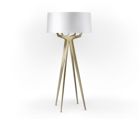 No. 35 Floor Lamp Shiny-Matt Collection - Shiny White - Brass by BALADA & CO. | Free-standing lights