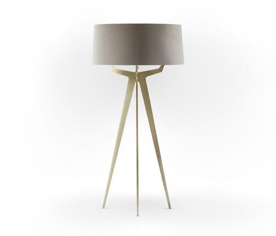 No. 35 Floor Lamp Velvet Collection - Beige - Brass by BALADA & CO.   Free-standing lights