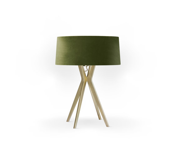 No. 43 Table Lamp Velvet Collection - Olive - Brass by BALADA & CO. | Table lights