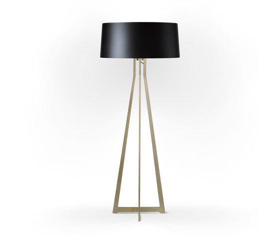 No. 47 Floor Lamp Shiny Matt- Shiny-Black - Brass by BALADA & CO. | Free-standing lights
