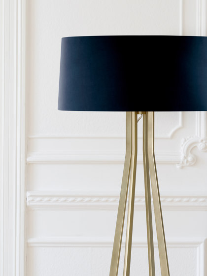 No. 47 Floor Lamp Velvet Collection - Notte - Brass by BALADA & CO. | Free-standing lights