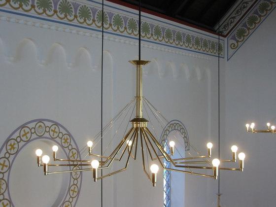 GREN 45 chandelier di Okholm Lighting | Lampadari