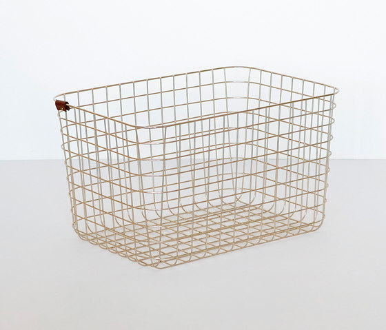Wire Basket | L | gold by Moheim | Storage boxes