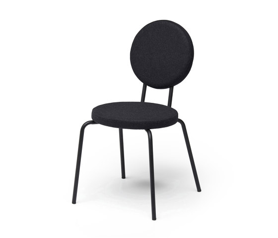 Option Chair Black Round Seat Round Back by PUIK | Chairs