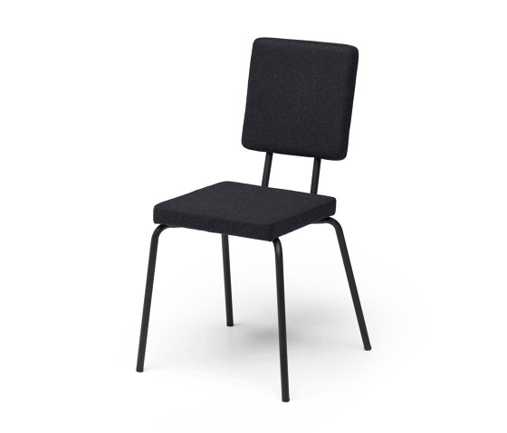 Option Chair Black Square Seat Square Back by PUIK | Chairs