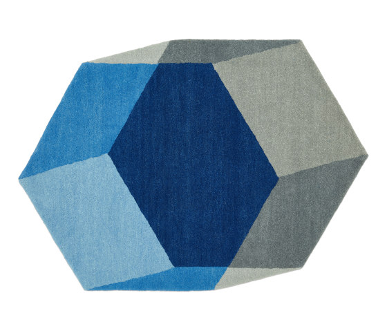 Iso Hexagon Blue by PUIK | Rugs