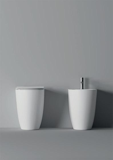 Bidet Form BTW / Appoggio Square H50 by Alice Ceramica | Bidets