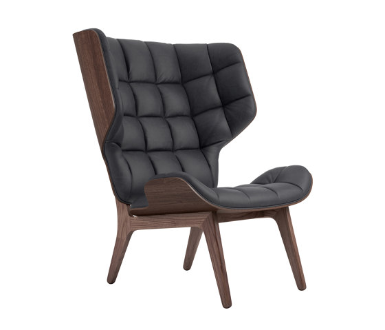 Mammoth Chair, Dark Stained / Vintage Leather Anthracite by NORR11   Armchairs