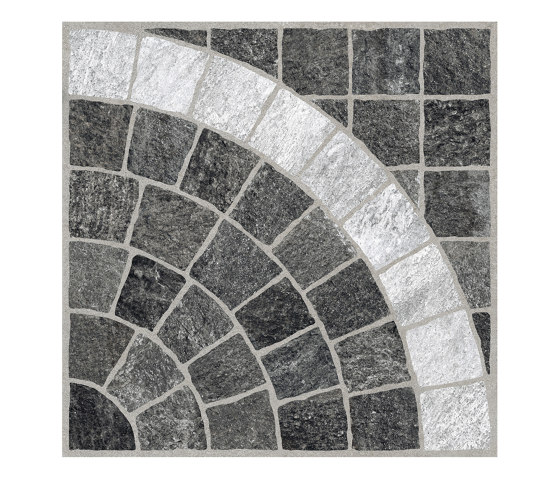Valeria H20 Grafite Arco Bianco by Rondine | Ceramic tiles