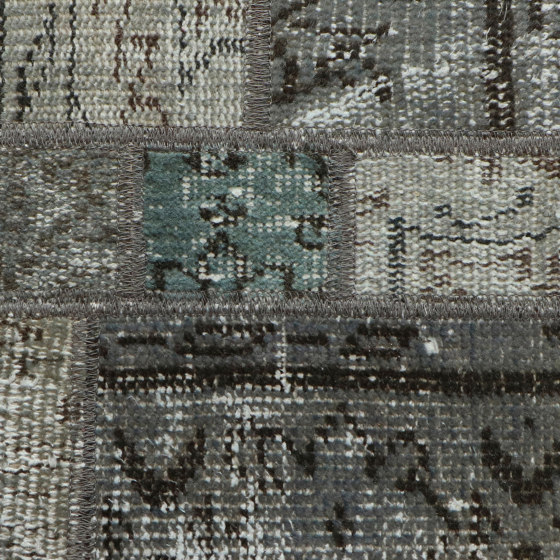 MeatPacking Patchwork Argento by G.T.Design | Rugs