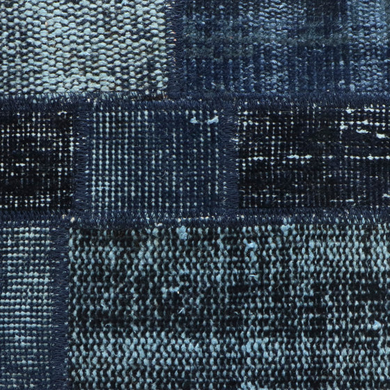 MeatPacking Patchwork Blu Scuro by G.T.Design | Rugs