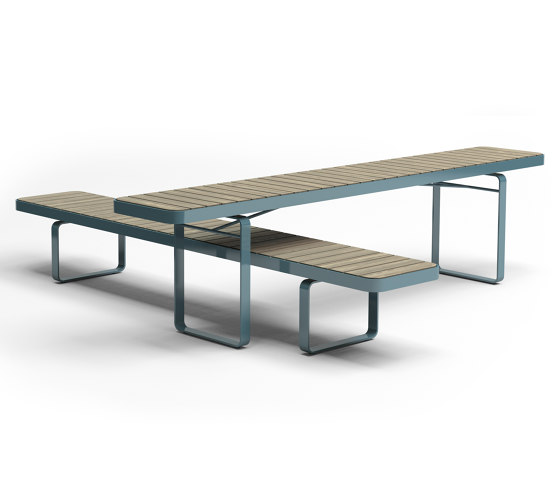 Forum bench & table by Vestre | Tables and benches