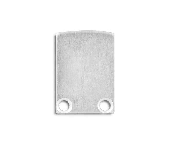 PL5 series   End cap E12 aluminium by Galaxy Profiles