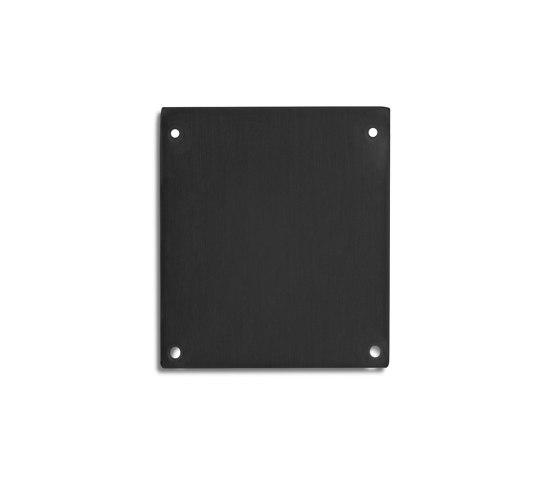 PN17 series | End cap E69 Alu black RAL9005 by Galaxy Profiles