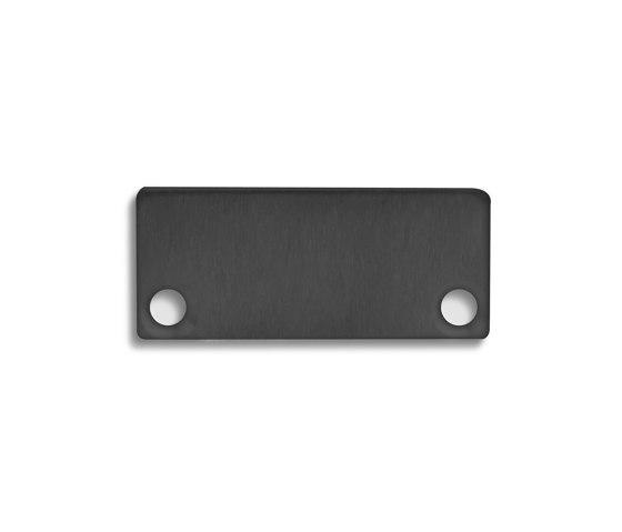 PN4 series | End cap E43 Alu black RAL9005 by Galaxy Profiles
