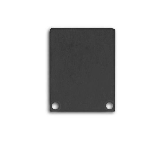 PN4 series   End cap E45 Alu black RAL9005 by Galaxy Profiles