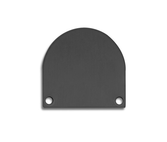 PN4 series | End cap E46 Alu black RAL9005 by Galaxy Profiles