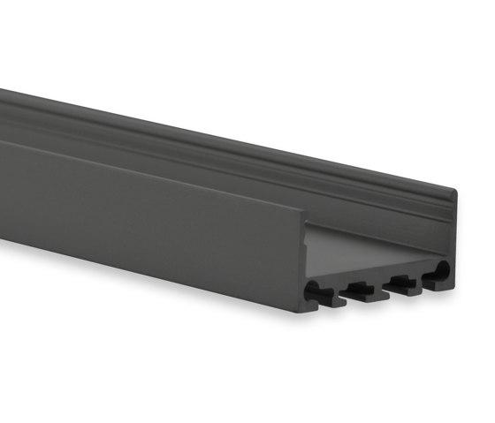 PN4 series | PN4 LED CONSTRUCTION PROFILE 200 cm, flat by Galaxy Profiles | Profiles