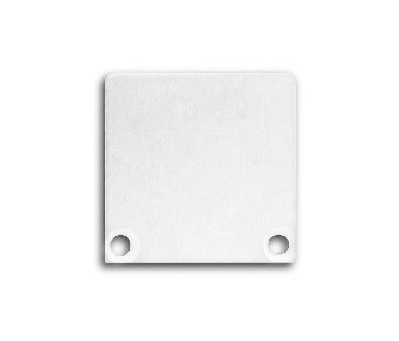 PN6 series | End cap E47 Alu white RAL9010 by Galaxy Profiles