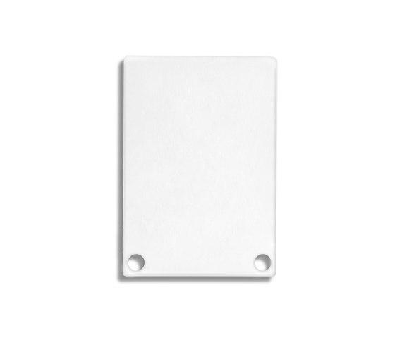 PN6 series | End cap E48 Alu white RAL9010 by Galaxy Profiles