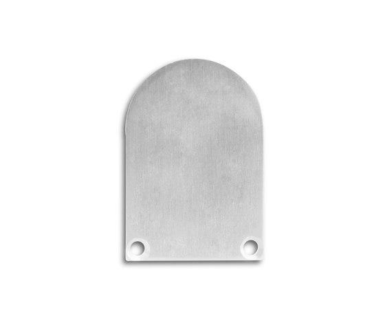 PN7 series   End cap E50 aluminium by Galaxy Profiles