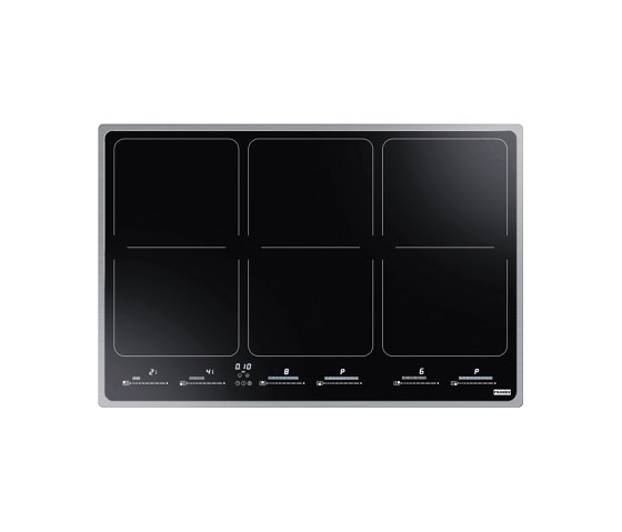 Frames by Franke Hob FHFS 786 3Flexi ST Stainless Steel Glass Black by Franke Kitchen Systems | Hobs