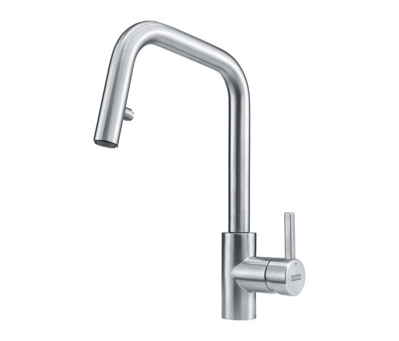 Kubus Tap Pull Down Spray U Spout Stainless Steel by Franke Kitchen Systems | Kitchen taps